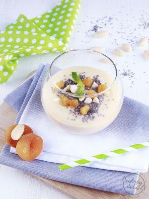 Recette Crémeux au lait amandes, abricots et graines de Chia