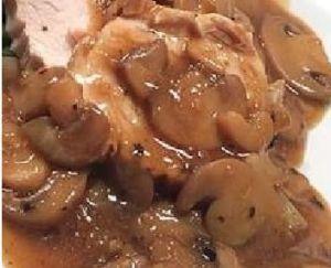 Recette Rôti de dinde aux champignons