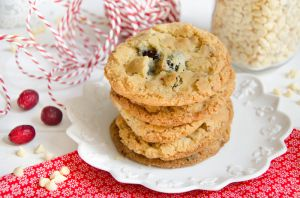 Recette Cookies chocolat blanc cranberries