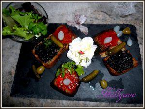 Recette Tartines sans gluten, aux confitures de poivrons et d'olives