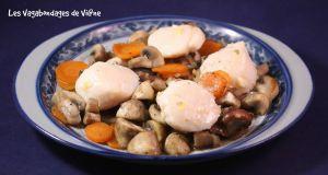 Recette Saint-Jacques à la vapeur et champignons à l'asiatique