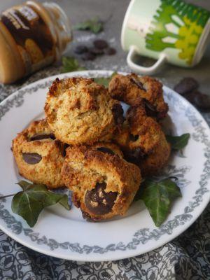 Recette Celle qui faisait…des cookies à la banane, au beurre de cacahuète et à la noix de coco {végétalien}