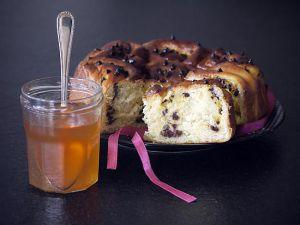 Recette Schnekekuchen ou Chinois à la Crème Pâtissière, Pépites de Chocolat, Glacé à la Gelée de Fleurs de Sureau (Recette Thermomix)