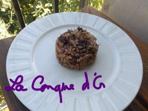 Recette Risotto au radicchio,lardons et champignons