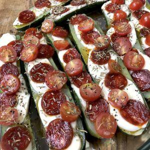 Recette Courgettes gratinées mozzarella chorizo