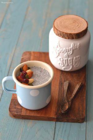 Recette Chia pudding au halva & aux fruits secs