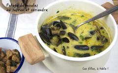Recette Potage aux moules, safran et coriandre
