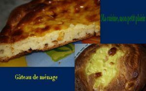 Recette Gâteau de ménage Franc comtois