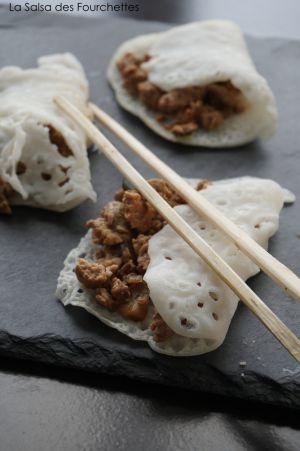 Recette CREPES Vietnamiennes au Porc