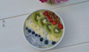 Recette Chia pudding kiwi banane
