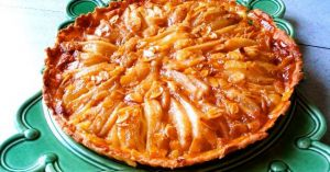 Recette Tarte aux poires et aux amandes caramélisées