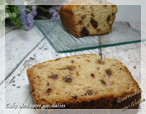 Recette Cake aux dattes, sans sucre, sans gluten