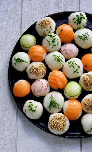 Recette Sushi balls pour un apéritif dinatoire , un pique-nique , un plateau télé