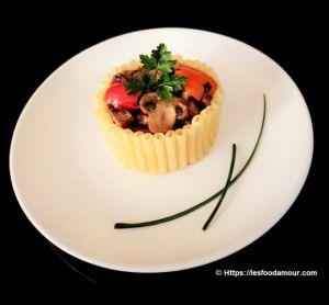Recette Timbale de macaroni persillade de rognon