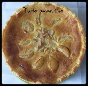 Recette Tarte amandine (poires/amandes)