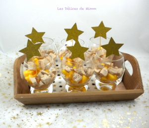 Recette Verrine de foie gras, kaki et Muscat de Rivesaltes