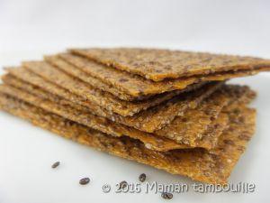 Recette Crackers passion graines de chia {sans gluten}