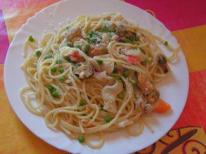 Recette Spaguetti aux fruits de mer