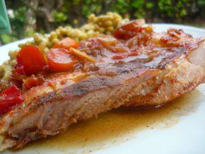 Recette Rouelle de porc au miel et au Pedro Ximenez