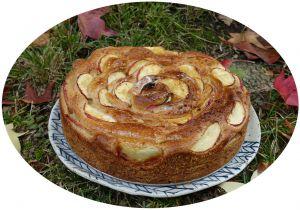 Recette Brioche tourbillon à la farine semi-complète, pommes & cannelle