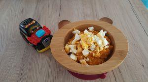Recette Petit pot de couscous courge, quinoa et oeuf (9 mois)