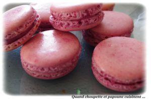 Recette Macarons betterave, parfum menthe