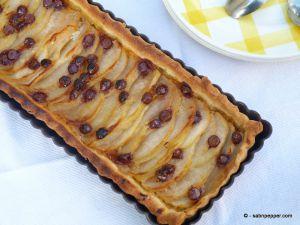 Recette Tarte aux poires et pépites de chocolat