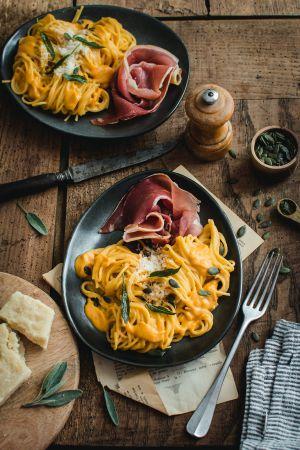 Recette Spaghetti à la crème de butternut