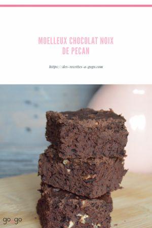 Recette Moelleux chocolat pécan vegan
