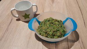 Recette Petits pots de lentilles aux légumes verts et chèvre (9 mois)