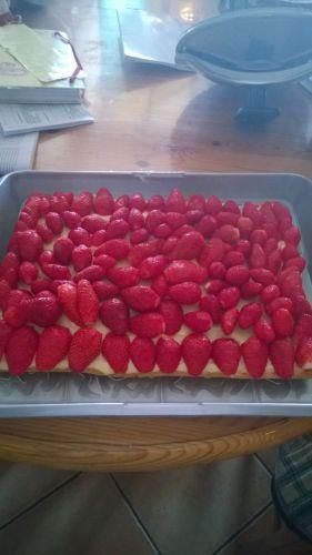 Recette Tarte folle fraises (cook in)