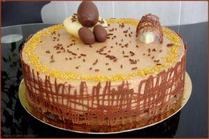Recette Entremets de Pâques Poire Chocolat