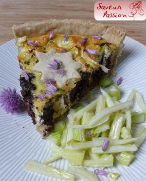Recette Quiche au boudin noir et au fenouil, salade de fenouil cru