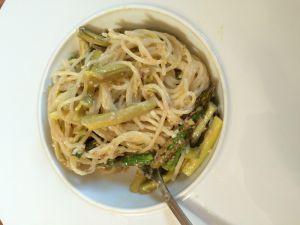 Recette Pâtes aux asperges et sauce au citron