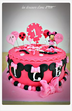 Recette Cake design Minnie birthday