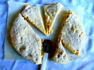 Recette Pain plat au fromage végétal