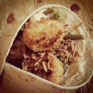 Recette Wrap aux nuggets de poulet et légumes saveur tartiflette