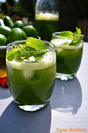 Recette Agua fresca au concombre, à la menthe et à la lime