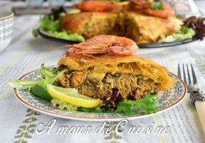 Recette Pastilla au poisson et fruits de mer