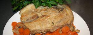 Recette Rouelle de porc aux carottes, Porc noir Gascon de le « Le Gascon'hay »