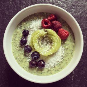 Recette Porridge protéiné matcha & chia