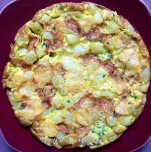 Recette Frittata aux pommes de terre , Galbanino et persil / Frittata patate, Galbanino e prezzemolo
