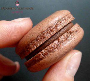 Recette Macarons Chocolat Noisettes {100% végétal}