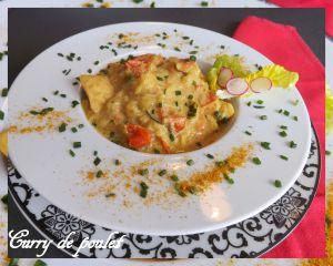 """Recette Curry de poulet """"tout léger"""", bon pour les papilles et les hanches hi, hi, hi !!!"""