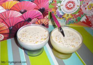 Recette Entremets aux maïs & perles de tapioca