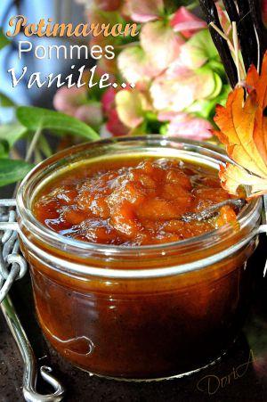 Recette Confiture Béatrix au potimarron, pommes et vanille