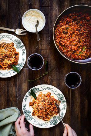Recette Pâtes à la bolognaise végétarienne