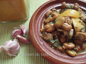 Recette Tajine de fèves
