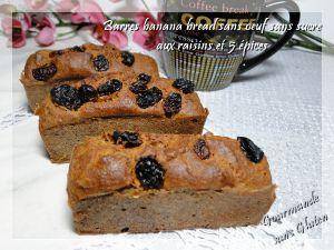 Recette Barres banana bread sans oeuf, sans sucre aux 5 parfums