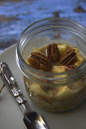 Recette Porridge express amande, pomme, cannelle et chia